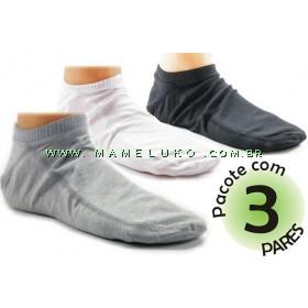 Kit com 3 pares de meia Onfit Caiaque - Cinza/Preto/Branco