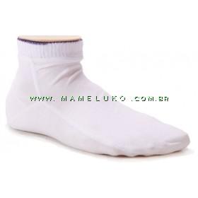 Kit 3 pares de Meia Onfit Soquete Friso Colorido - Branco