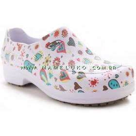 Sapato Profissional Soft Works II Estampado -Coração e Bolas