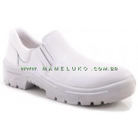 Sapato Protefort Sanitário com Elástico - Branco