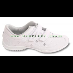 Tênis Kolosh C0782 com Velcro Duplo - Branco