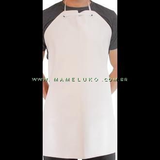 Avental em Napa Modelo Curto - Branco