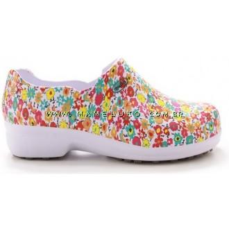 Sapato Profissional Soft Works II Estampado - Flores Coloridas
