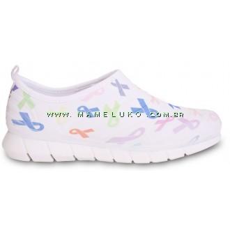 Tênis Florence Sport - Laços - Branco com Ícones Coloridos