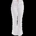 Calça Feminina Cintura Alta Pantalona com Strech - Branco