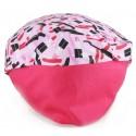 Touca Elástica Profissional Batom Pink - Rosa com Aba Pink