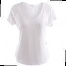 Blusinha CANAL1 Camiseta Decote V com Bolso - Branca