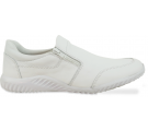 Sapato Masculino em Couro 746 Ziper - Branco