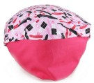 Touca Elástica Profissional Baton Pink - Rosa com Aba Pink