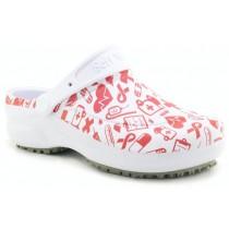 Sapato Profissional Soft Works Estampado - Ícones Hospital