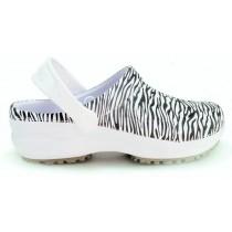 Babuche Profissional Soft Works Estampado - Branco com Estampa Zebra