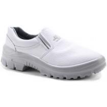 Sapato Kadesh Cabedal Liso Elástico - Branco