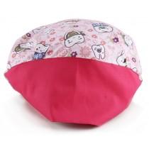 Touca Elástica Profissional Dentinhos - Rosa com Aba Pink