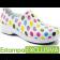 Sapato Profissional Soft Works II Estampado - Branco com Bolinhas Coloridas POÁ