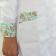 Jaleco Feminino Gola Padre com Estampa - Branco com Flores