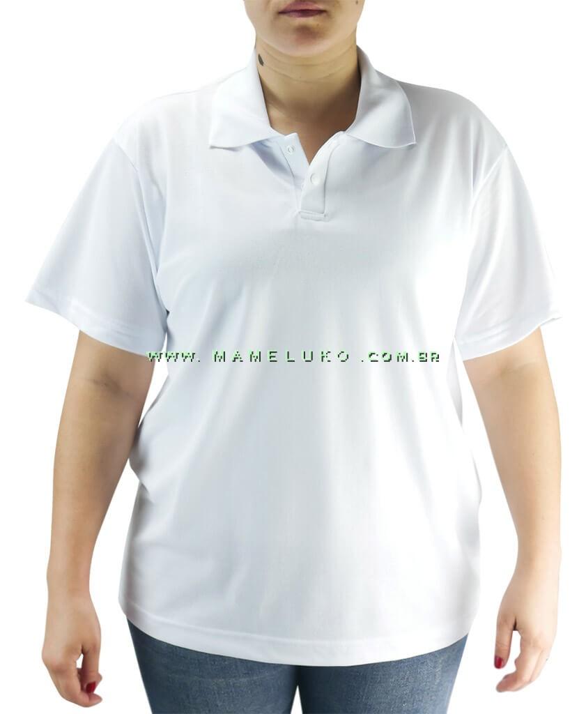 c330e992d575f Camiseta Gola Polo Unissex para Un Branca na Mameluko