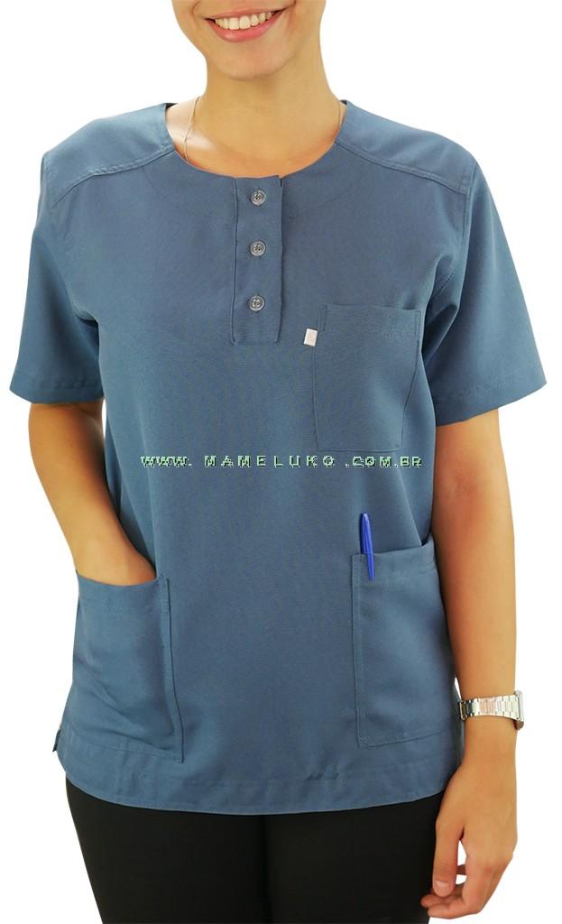 Scrubs Blusa Modelo Masculino com Azul Indig na Mameluko 8975d88f70cff