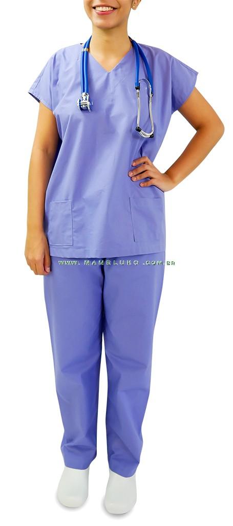 b61bea2ea Uniforme Centro Cirúrgico (Pijama) Unissex - Blusa e Calça - Azul