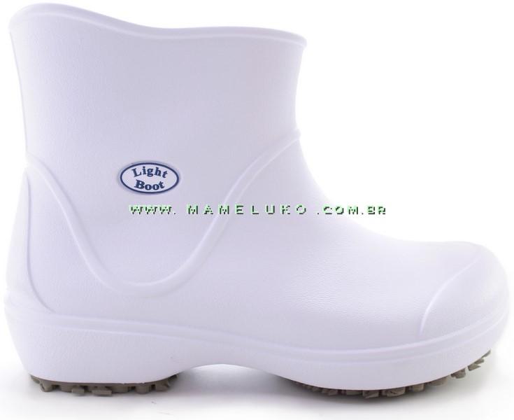 3e23af9502d Bota Impermeável Antiderrapante Light Boot - Branco - Super Leve!