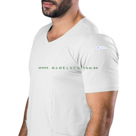 Scrubs Dry Fit Blusa Masculina - Branco