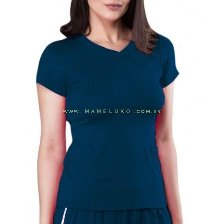 Scrubs Dry Fit Blusa Feminina - Azul Marinho