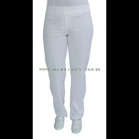 Calça Feminina 4 Botões - Branco