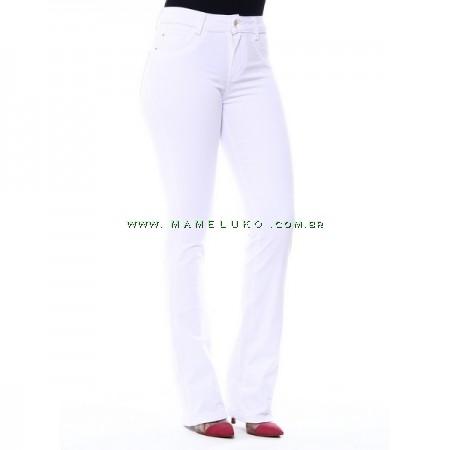 Calça Jeans Feminina Sawary Flare - Branca