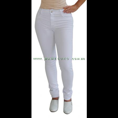 Calça Sawary Feminina Skinny Hot Pants - Branca