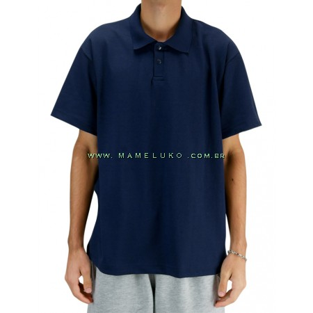 Camiseta Polo Unissex - Azul Marinho