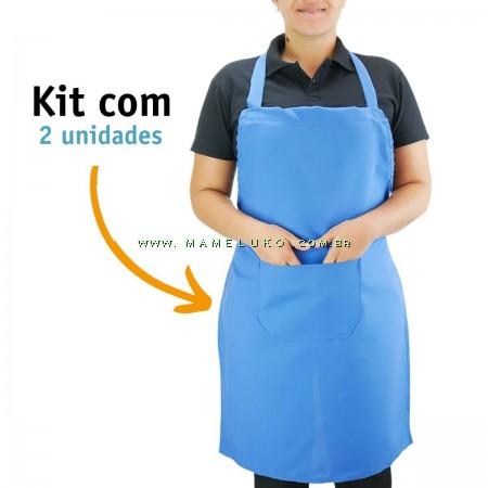 Kit 02 Avental Profissional Poliéster - Azul