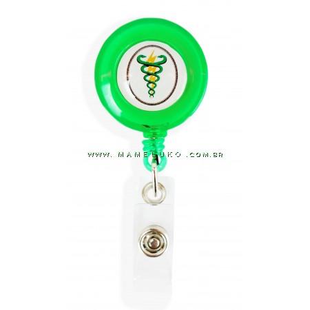 Porta Crachá Retrátil Fisioterapia - Verde Translucido