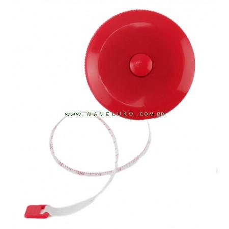 Fita Métrica Redonda - Vermelho