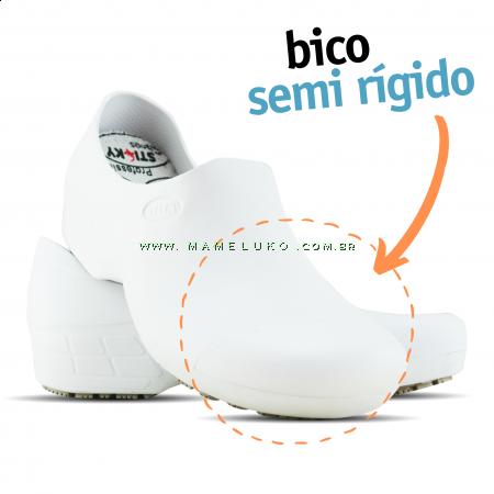 Sticky Shoe Woman Antiderrapante com Bico - Branco