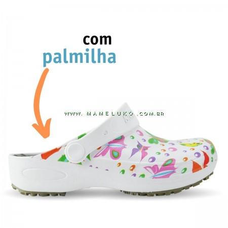 Babuche Profissional Plus Estampado com Palmilha - Borboletas