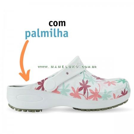 Babuche Profissional Plus Estampado com Palmilha - Folhagem Colorida