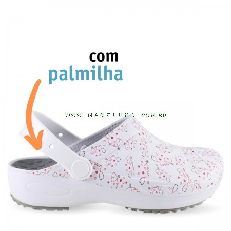 Babuche Profissional Plus Estampado com palmilha - Esteto Love