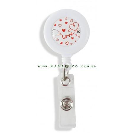 Porta Crachá Retrátil Esteto Love - Branco
