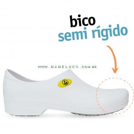 Sticky Shoe Man Antiestático ESD - COM BICO - Branco
