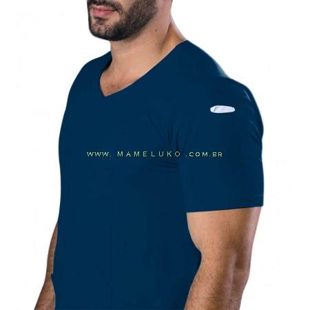 Scrubs Dry Fit Blusa Masculina - Azul Marinho