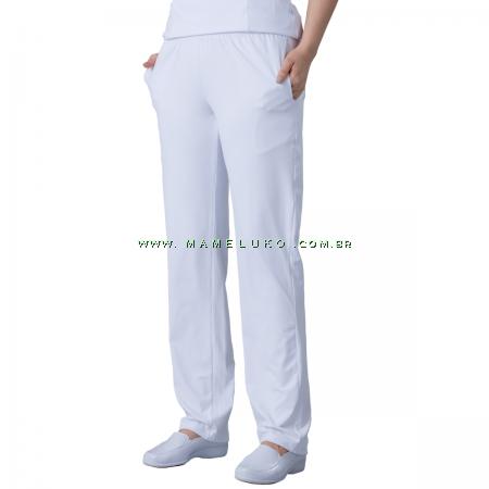 Scrubs Dry Fit Calça Unissex - Branco