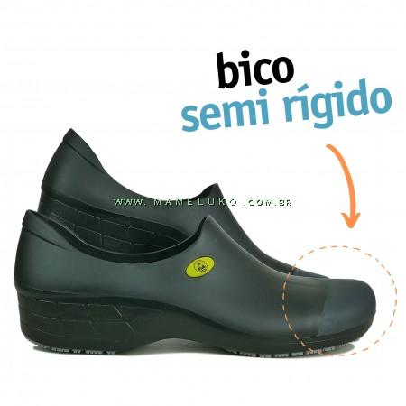 Sticky Shoe Woman Antiestático ESD - Preto