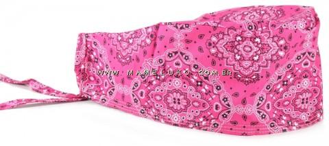 Bandana Profissional Estampada Arabesco - Pink