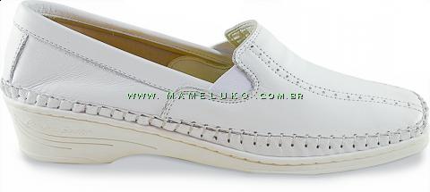 Sapato Feminino em Couro 1006 - Branco