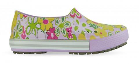 Tênis Profissional Iate Works II Estampado Flor Verde - Lilas