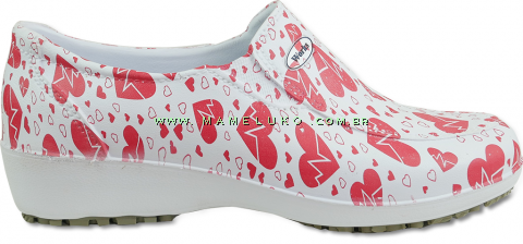 Sapato Antiderrapante Soft Works Lady - Eletro Coração