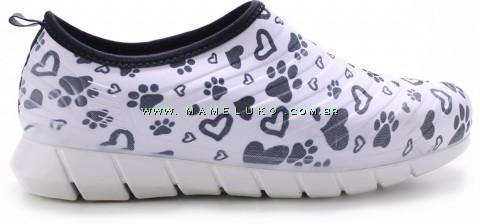 Tênis Pet Sport Patinhas - Branco com Desenho Preto
