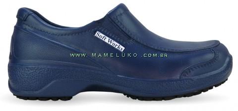 Sapato Profissional Soft Works BB67 - Azul Marinho