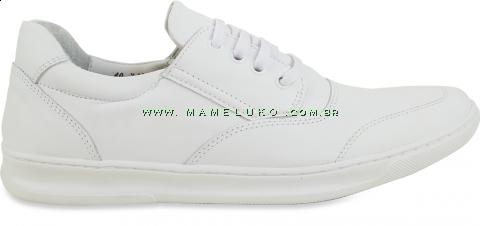 Sapato Masculino em Couro 748 Cadarço - Branco
