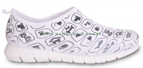 Tênis Florence Sport - Pets - Branco com Ícones Preto