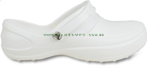 Babuche Profissional Crocs Mercy Work Women - Branco